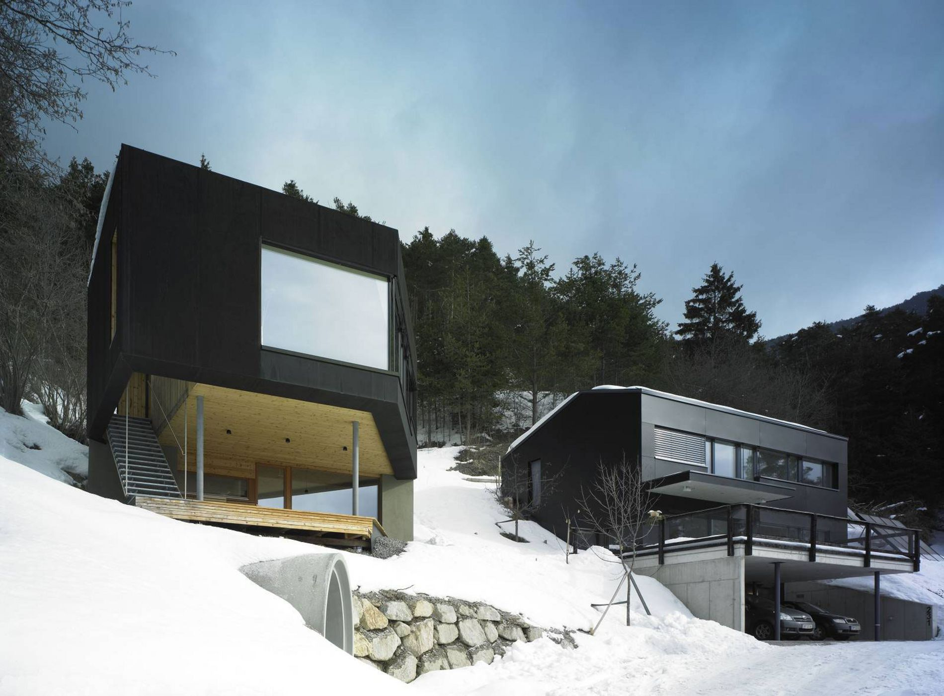 Holzh user tirol holzbauweise bauen mit holz holzbau for Haus bauen architekt